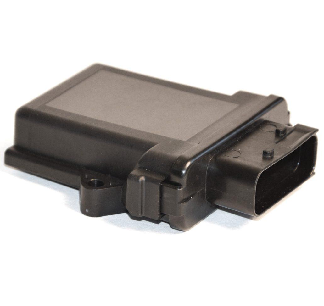 PEG-F: Automotivegehäuse mit 18-poligen HDSCS-Stecker nach IP69K geschlossen kurz automotive housing