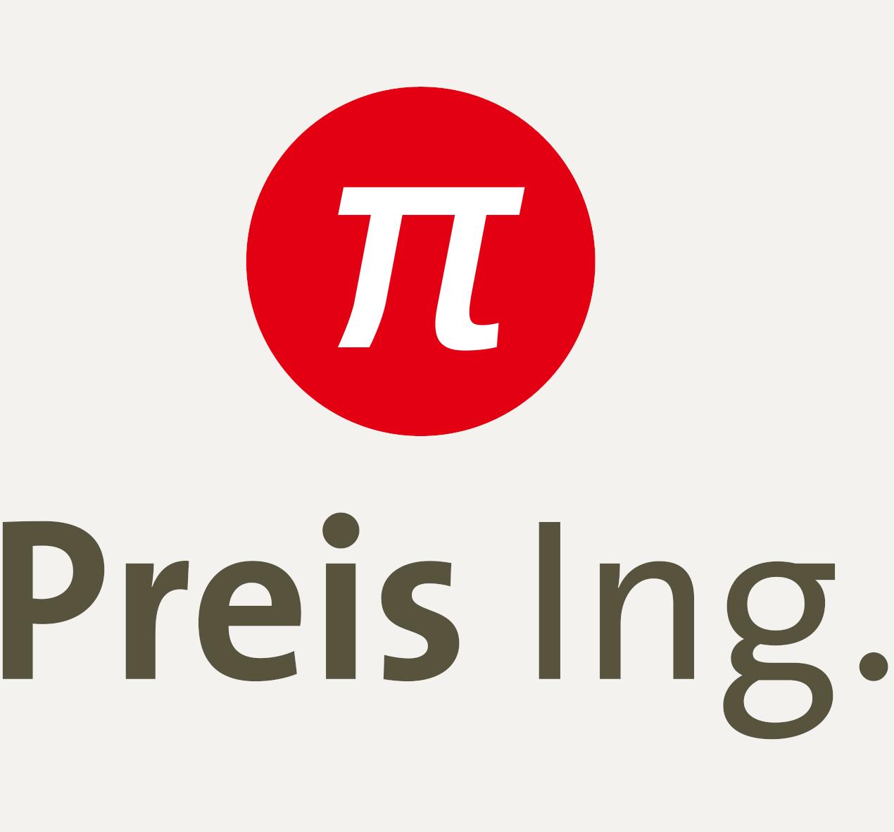 Preis Ing. Logo mit grauem Hintergrund