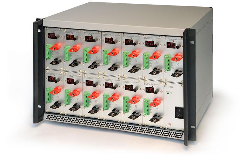 WRCS III: Weitbereich Strommessung Weitbereich Stromsensor als 19-Zoll Rack mit 13 Modulen